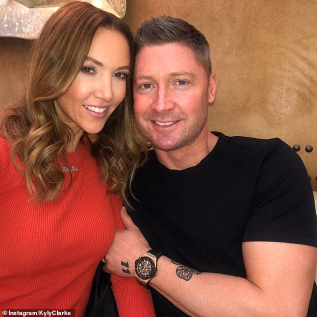 High-profile split: Kyly's post comes after her ex-husband Michael Clarke (pictured) reflected on his life, a year after separating from his wife of seven years