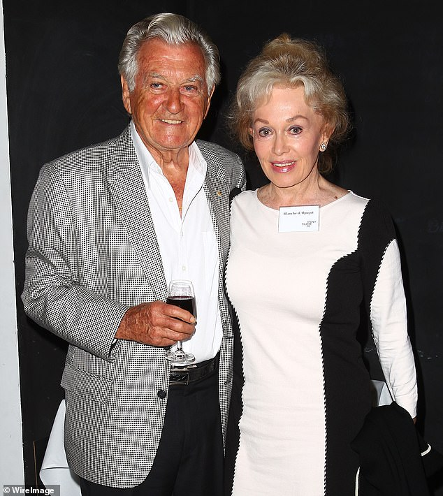 Former Prime Minister Bob Hawke died on May 16, 2019. The couple are pictured together in 2013