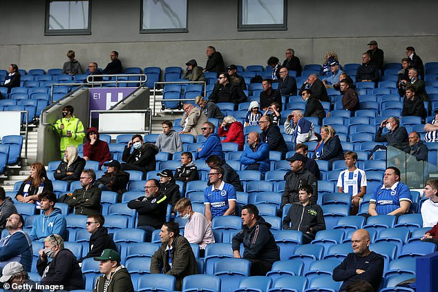 On August 29, fans socially distanced at the Amex Stadium in Brighton as the home team played a pre-season friendly against Chelsea