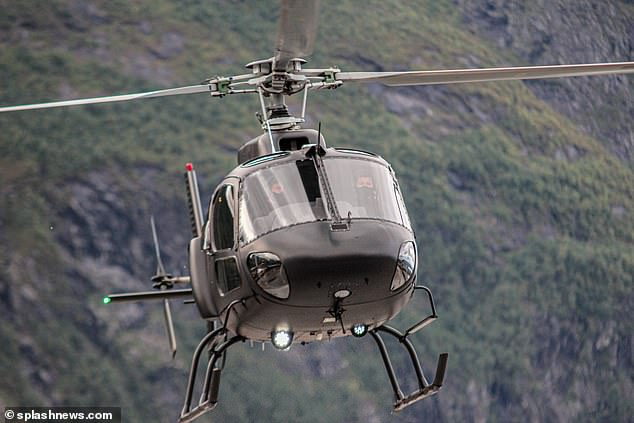 Departing: Of course the scene appeared to a feature a helicopter, a fixture in the Mission Impossible series