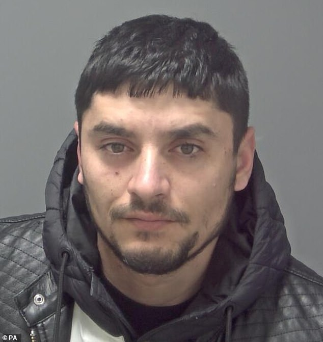 Marcel-Ionut Frant, 27 (pictured), was one of three smugglers, from Romania with no fixed address in the UK, who admitted charges of assisting illegal immigration.