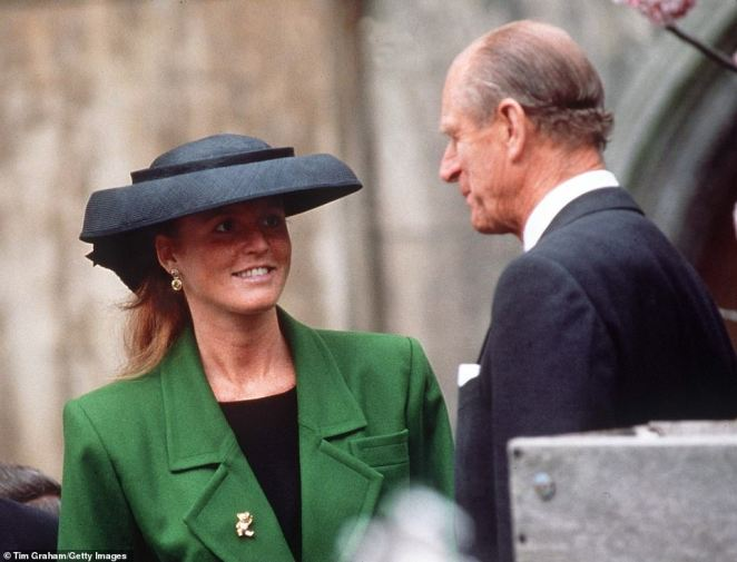 The Duke of Edinburgh and Sarah Ferguson at Easter Service at Windsor in the 1990s. She appeared to be having too much fun and was accused of revelling in her position and, worst, of being 'a parasite'