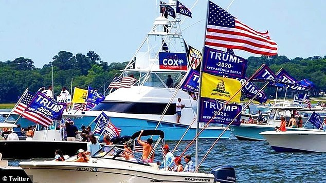 Several boats have sunk and multiple are 'in distress' at a Trump Boat Parade on Lake Travis, Texas, authorities said