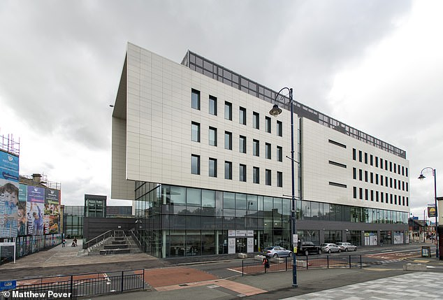 Pictured:The Tameside One building that houses the Tameside Metropolitan Borough council offices in Ashton-under-Lyne, which is yet to have an employee return