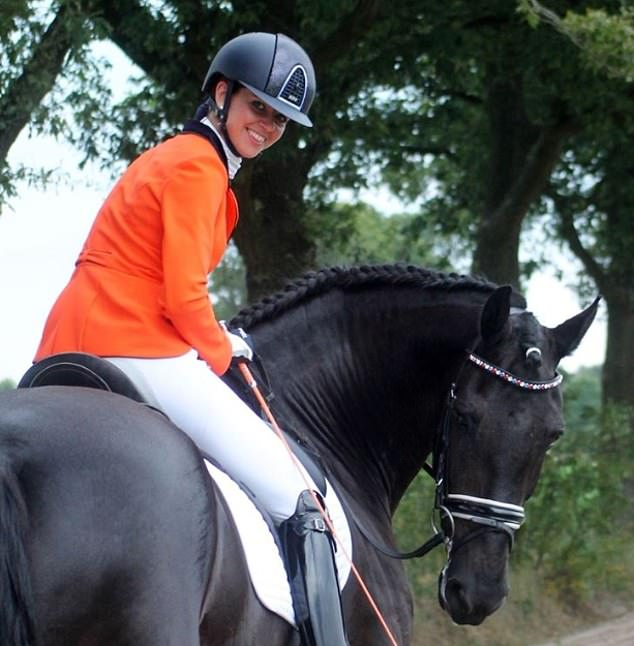 Pictured: Judith Pietersen, a Dutch equestrian who Dan Brown allegedly had an affair with, according to Mrs Brown