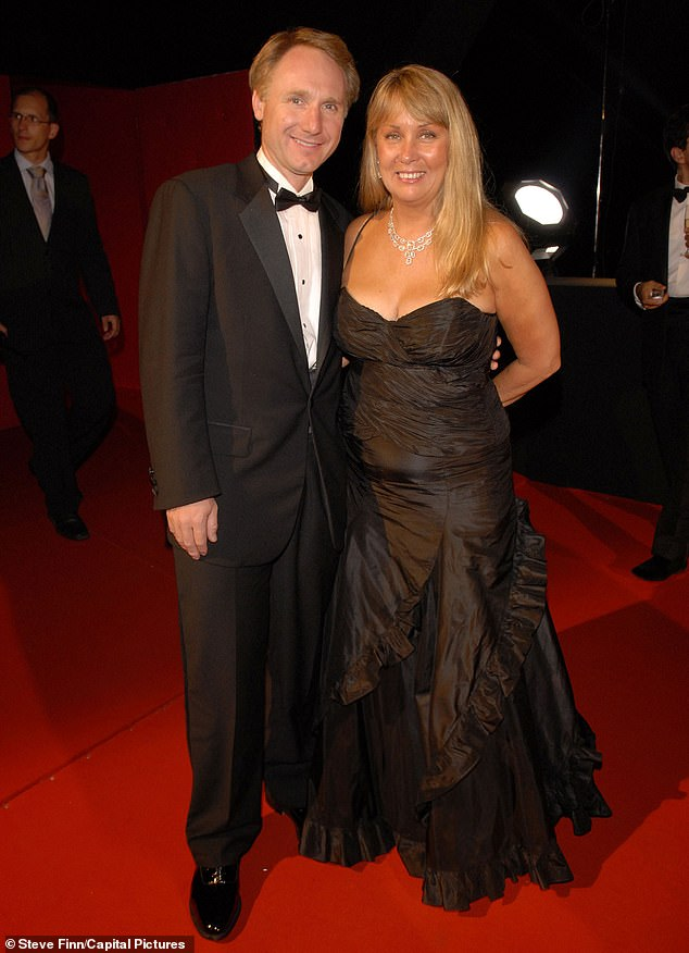 Pictured: Da Vinci Code author Dan Brown with his wife Blythe Brown, who launched a lawsuit against her husband in July claiming he had ¿sordid extra-marital affairs¿ and accusing him of ¿secretly plundering significant sums of their marital assets¿. He has said he is countersueing her for libel