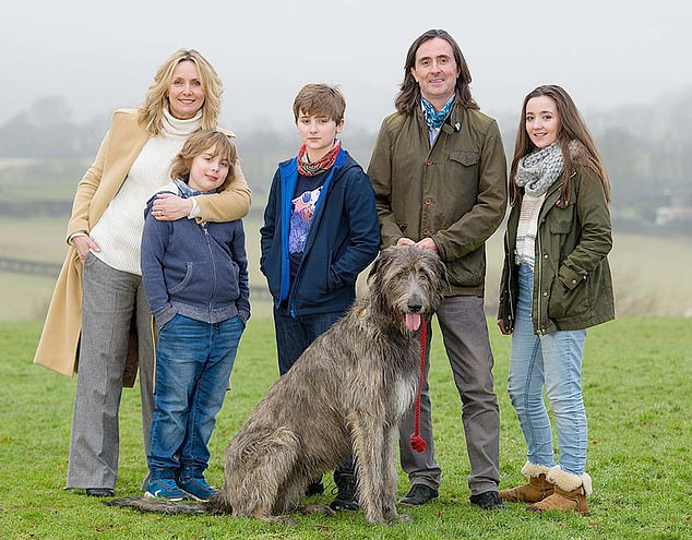 Oliver, pictured with wife Trudi and his children, has faced 'vindictive, personal' attacks yet refuses to be 'shouted down by the mob'