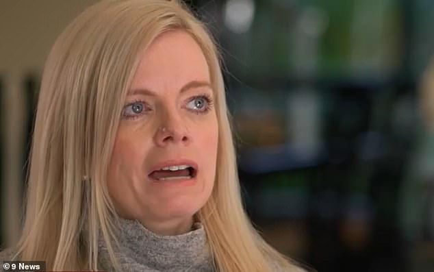A mother (pictured, Amanda Merrifield) has opened up about her painful struggles of living without an oesophagus and stomach after a restaurant mistakenly gave her oven cleaner as a remedy for her hiccups