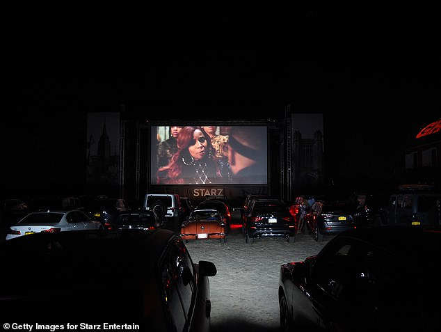 Post coronavirus world: With the COVID-19 pandemic still a major health concern, drivers pulled up their cars in front of a large screen for the airing of the very first episode