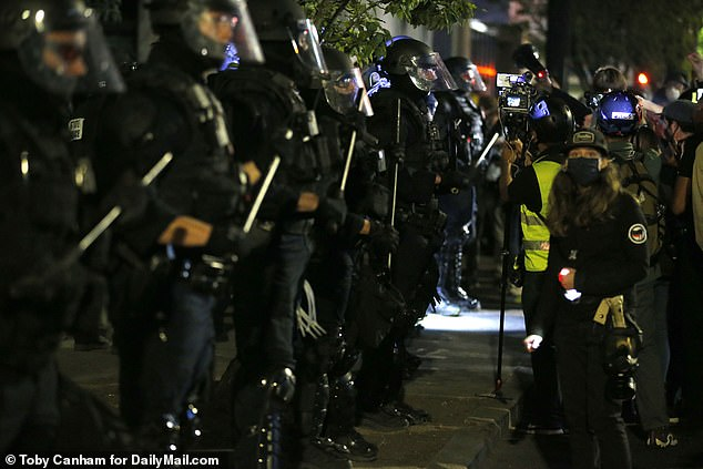 Just before midnight an unlawful assembly was declared and a large number of police moved in quickly making multiple arrests