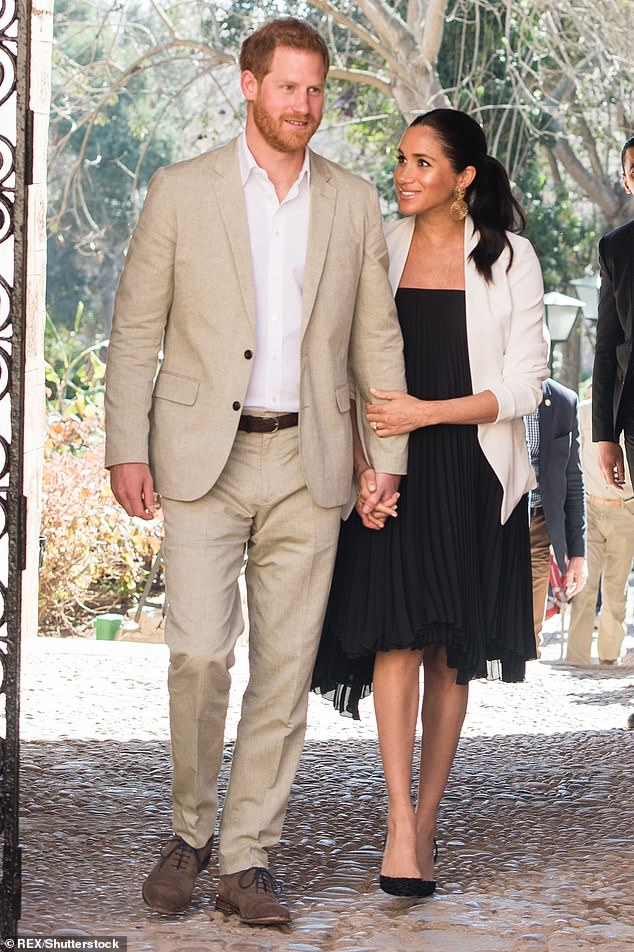 The Sussexes (pictured in February last year) signed a deal with streaming giant Netflix earlier this week