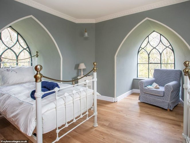 Inside, there are two bedrooms (one double and one twin), both of which are accessed by the stone spiral staircase which runs through the tower