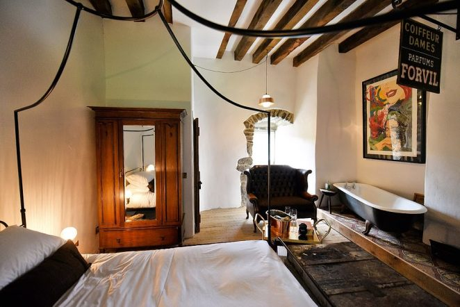 Each bedroom in the castle is unique, with bespoke, handpicked furniture and artwork