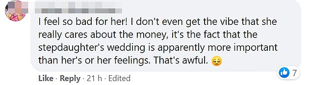 Members of the Wedding Shaming group said they felt for the poor bride-to-be, whose fund had been taken away from