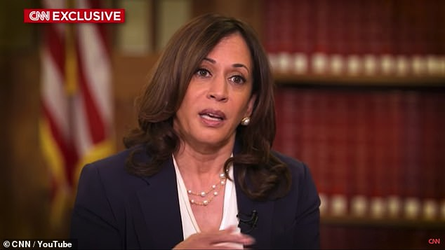 Kamala Harris slammed President Donald Trump and his Attorney General William Barr for denying systematic racism in the US justice system during an interview with CNN aired Sunday