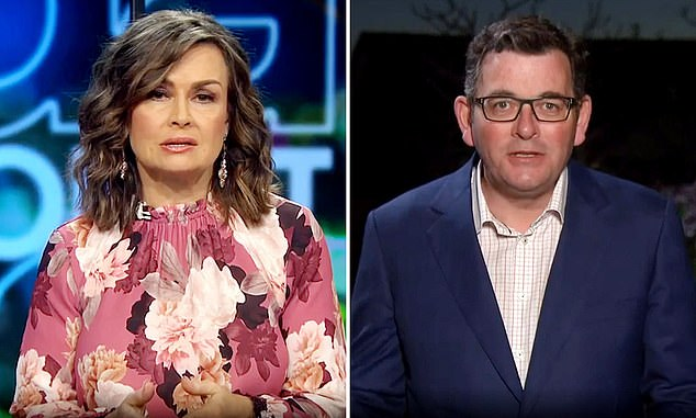 Project host Lisa Wilkinson (left) grilled Victorian Daniel Andrews (right) on the mental health costs of extending the lockdown on a community that is clearly tiring of it