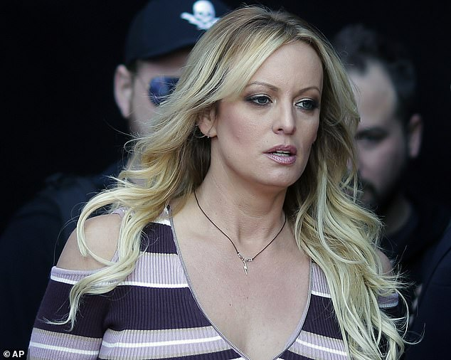 One of Cohen's convictions stemmed from his efforts to arrange payouts to porn actress Stormy Daniels, pictured, following her alleged extramarital affairs with Trump