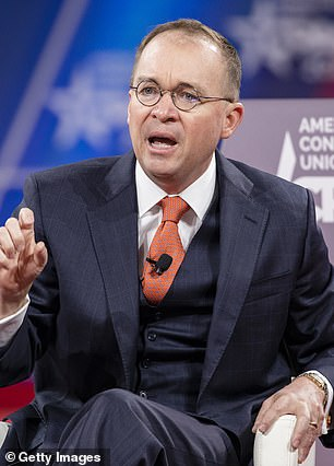 Former acting White House Chief of Staff Mick Mulvaney also leaped to the president¿s defense Friday, accusing Goldberg of entirely fabricating the report