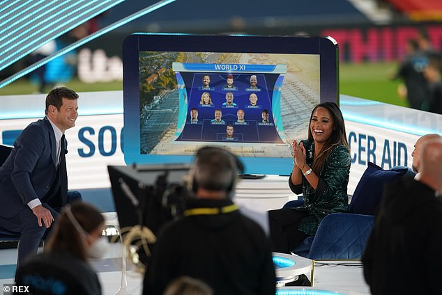 'We need to keep it at the forefront':Sky Sports pundit Alex Scott has urged English football to press on with support for the campaign next season (pictured withDermot O'Leary)