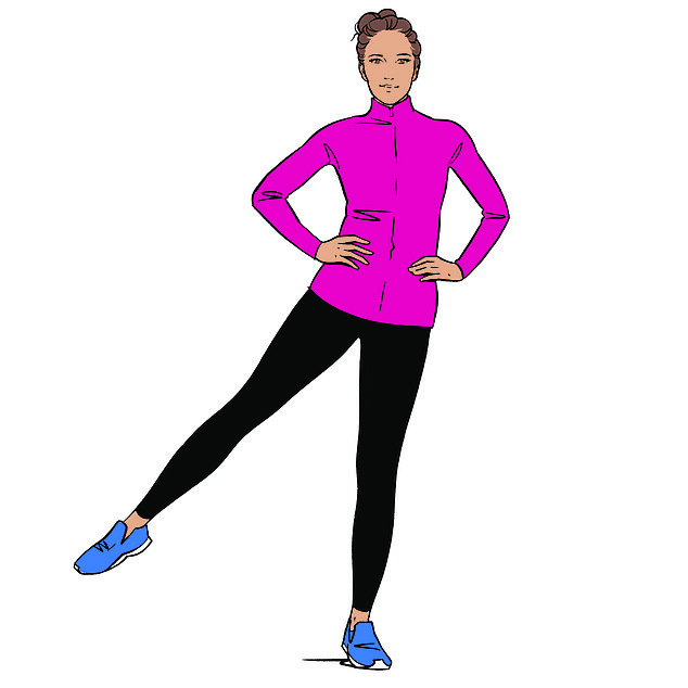 Celebrity personal trainer Nadya Fairweather, recommends standing leg lifts (pictured) to blitz love handles