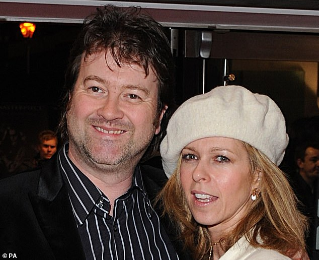 TV presenter Kate Garraway (right) has said 'the heart of the family has been ripped out' as her husband Derek Draper (left) struggles to recover from coronavirus