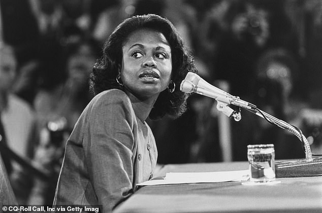 Anita Hill (pictured) testified during the 1991 Supreme Court confirmation hearing against then-nominee Clarence Thomas