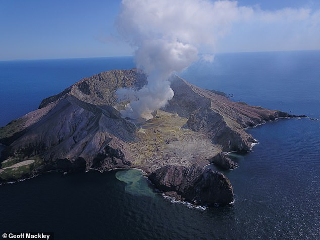 A filmmaker has captured the first images of White Island less than a year after its volcano erupted and killed 21 people
