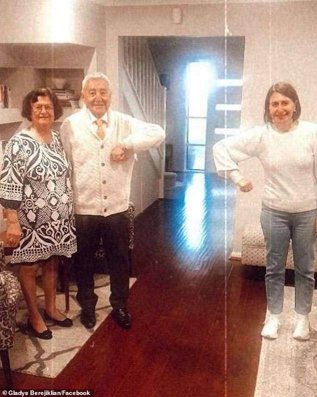 The different approaches between NSW and Victoria can even be seen in the Premiers' personal lives. Gladys Berejiklian at the weekend celebrated Father's Day with her dad, Krikor. 'First time I've had my parents over to my place during COVID,' she said