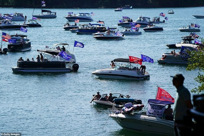 The Great American Boat Parade events took placed in several US cities over Labor Day Weekend, which is just three months away from the presidential election