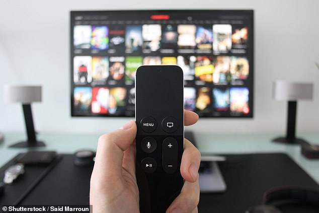 Thirty-nine per cent of Australians tuned in to streaming services such as Netflix and Stan more than ever during lockdown (stock image)