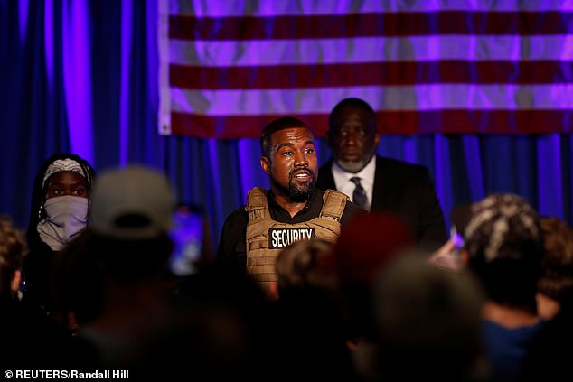 Denied: Just last Thursday, Arizona state Judge Scott McCoy and Richmond, VA Circuit Judge Joi Taylor both ordered state election officials to keep the bipolar hip-hop star's name off the general election ballots (pictured July 19)