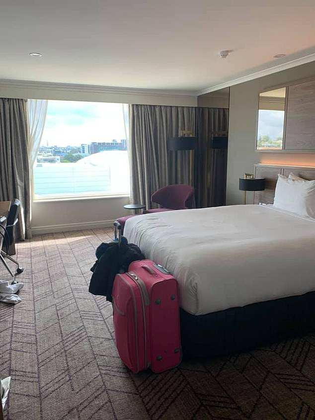 Ms Chancellor arrived from overseas and was taken to a Rydges Southbank hotel room (pictured) to undertake mandatory quarantine