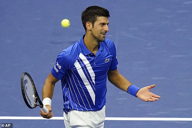 Djokovic previously said his behaviour was 'not an issue' after showing frustrations on court