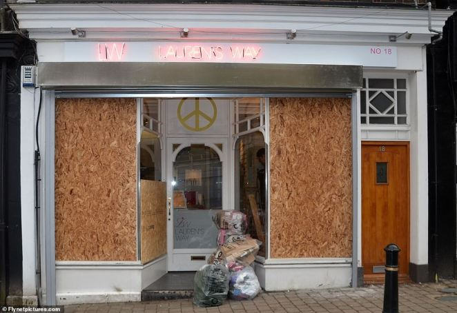 Bombed: In a similar fate to her former fiancé, in February 2012, Lauren Goodger's salon Lauren's Way was petrol bombed and attacked by arsonists just hours after opening