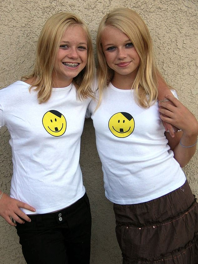 In 2005, the pair (pictured) were snapped in smiley-face Hitler T-shirts and in the same year they donated money to victims of Hurricane Katrina - but insisted it go to whites only