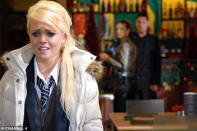 Back for more:She first appeared on Hollyoaks in 2008 and remained on the soap for the best part of a decade