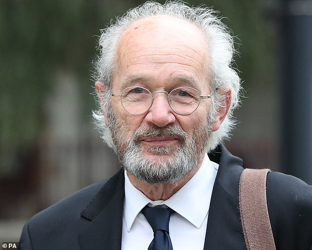 John Shipton, Mr Assange's father, was seen arriving at the Old Bailey today ahead of his son's extradition hearing