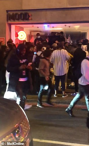 Crowds of revellers flocked to an illegal street party in London amid spiraling coronavirus case figures