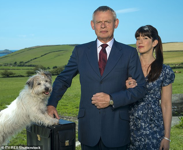 Final series: Doc Martin will come to an end in 2021 after 17 years on-screen (Martin Clunes as Doc Martin and Caroline Catz as Louisa Glasson pictured)