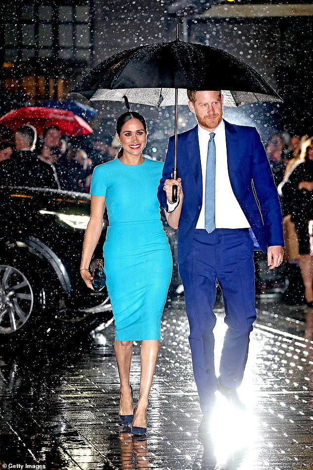 This week Netflix announced that it had added the Duke and Duchess of Sussex to a growing stable of talent. Pictured, Prince Harry and Meghan Markle in March this year