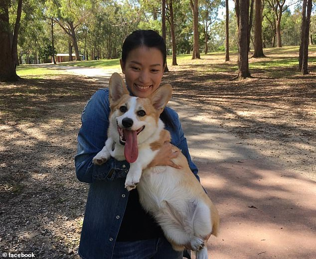 Carmen Pham with her adorable corgi Haku. Ms Pham is missing her pet very much
