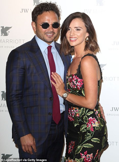 Her love: The brunette beauty met Corrie stars Ryan Thomas on Celebrity Island With Bear Grylls in 2017, sparking romance rumours between the pair before they went public with a trip to Wimbledon later that year (pictured last year)