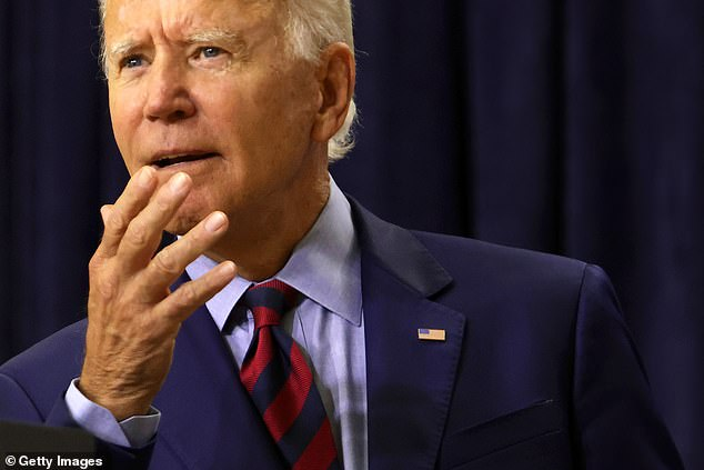 Among registered Texas voters, Biden (pictured) is ahead by 1 point, which is also within the poll's margin of error. A Democrat hasn't won the state of Texas since Jimmy Carter won over President Gerald Ford in 1976