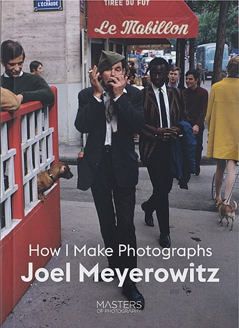 Above, the cover for famed street photographer Joel Meyerowitz's latest book. Meyerowitz's career spans almost 60 years and he has published numerous books about the United States and Italy, where he now lives with his wife, the novelist Maggie Barrett. The book has several lessons for those who wish to learn more about how to practice the medium. 'I'm like the tennis coach,' he told DailyMail.com