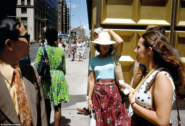 'The act of making a photographic portrait is one of those intimate moments of connectivity between human beings, between the photographer and his or her subject,' Meyerowitz wrote in his new book, How I Make Photographs. 'I¿m not talking here about family album snaps, but rather about photographs that show the mystery, essential qualities, tenderness, physical beauty and magic people have when they express themselves, when they reveal themselves.' Above, New York City, 1974