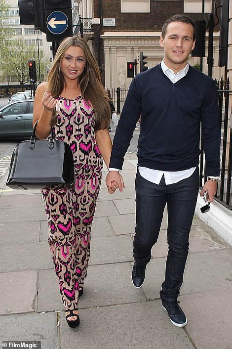 Lost love:In 2013, Lauren seemed to have found her Prince Charming in boyfriend Jake McLean (pictured in 2013)