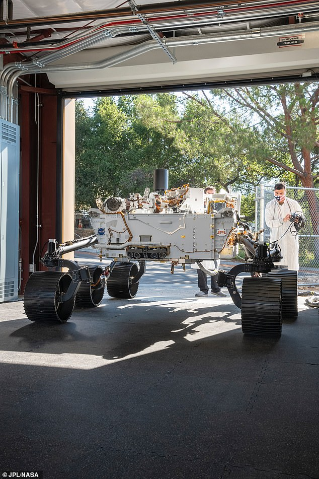 Like Perseverance, Optimism is about the size of an SUV. Unlike the Mars rover, which has a heating system to endure the Red Planet's frigid environment, Optimism has a cooling system to keep it working under the harsh Southern California sun