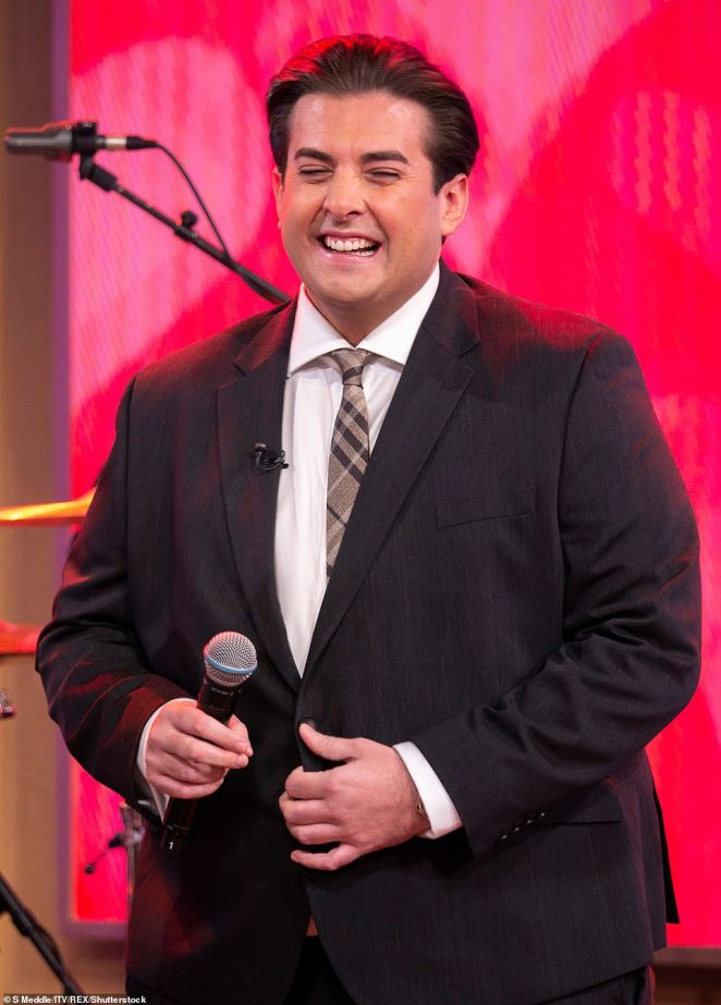 Lovable: Arg shot to fame as the bellowing baritone who performed at every single TOWIE party (pictured in February last year)