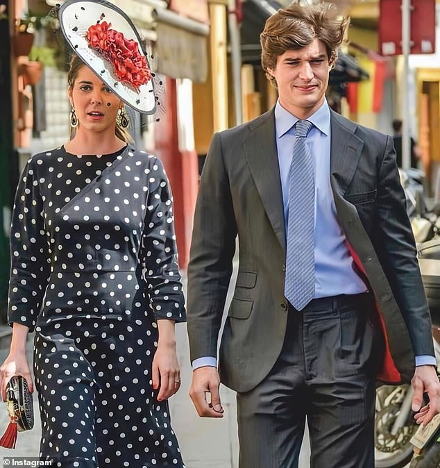 Carlos Fitz-James Stuart y Solís, Count of Osorno, 28, who is the youngest son of the 19th Duke of Alba, is set to wed Bele¿n Corsini, after two years of dating (pictured, together)