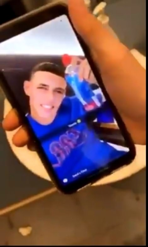 Video shows the girls receiving a photograph message from Phil Foden before they meet at the hotel